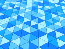 Blue triangles background. Abstract 3d illustration of blue triangles background Royalty Free Stock Photography