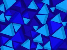 Background. Blue triangles. Vector. Stock Photo