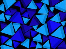 Background. Blue triangles. Vector. royalty free stock photo