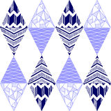 Blue triangles, geometric shapes, shapes mirroring Royalty Free Stock Photo