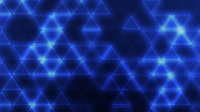 Blue triangles. Glowing blue connected triangles on a dark background Royalty Free Stock Image