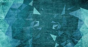 Blue triangles grunge background. 3D Rendering Royalty Free Stock Photos