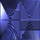 Blue triangles mirror image Stock Image