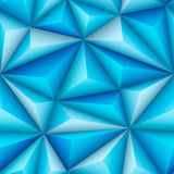 Blue Triangles Stock Photography