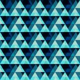 Blue triangles seamless pattern Stock Images