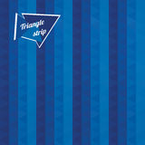 Blue triangles  striped pattern Stock Photography