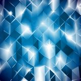 Blue triangles. Vector shine background Royalty Free Stock Images