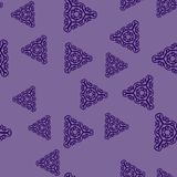 Blue triangles on violet. Abstract background Royalty Free Stock Image