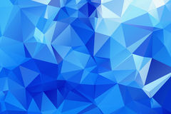 Blue Triangular Background Royalty Free Stock Photography
