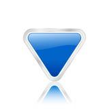 Blue triangular icon Stock Image