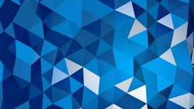 Blue triangular polygonal chaotic surface 3D rendering. Blue triangular polygonal chaotic surface. Abstract 3D rendering vector illustration