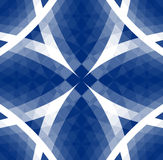 Blue Tribal Pattern. Tribal pattern / with a center focal point Royalty Free Stock Image