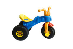 Blue tricycle Stock Image