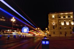 Blue. Trieste by nigth Royalty Free Stock Photos