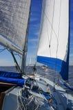 Blue Trimmed Sails Stock Images