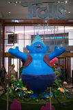 Blue troll display inside the Macy's store in Manhattan Royalty Free Stock Image