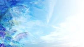 Blue tropical background vector illustration