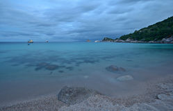 Blue tropical beach Stock Photos