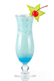 Blue tropical cocktail with coconut cream Stock Image