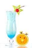 Blue tropical cocktail with coconut cream Stock Photography