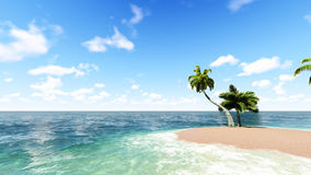 Blue tropical sea. Raster. 3 Stock Image