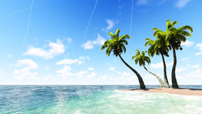Blue tropical sea. Raster. 3 Stock Images