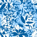 Blue Tropical seamless pattern. Royalty Free Stock Image