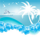 Blue Tropical summer background Stock Image