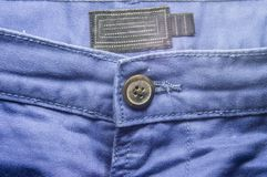 Blue trouser jeans front Royalty Free Stock Photos