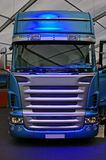 Blue truck Stock Photography