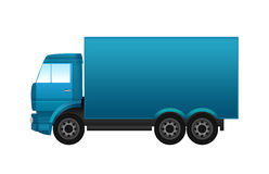 Blue truck. Illustration of a colorful truck Royalty Free Stock Photography
