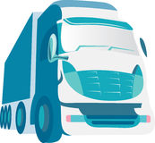 Blue Truck. An illustrated blue truck isolated on a white background Royalty Free Stock Photography