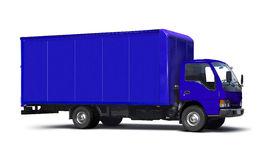 Blue truck. Blue transport truck isolated on white Stock Images