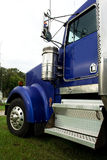 Blue truck cab Royalty Free Stock Photos