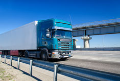 Blue truck Royalty Free Stock Images