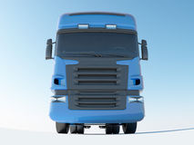 Blue truck front view Royalty Free Stock Photo