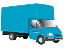 Blue truck illustration Royalty Free Stock Image