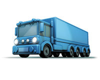 Blue truck Royalty Free Stock Photo
