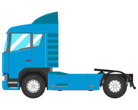 Blue truck. Blue modern truck-tractor isolated on white background. Vector illustration Royalty Free Stock Image