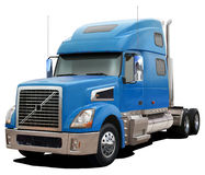 Blue truck Volvo VT880. Royalty Free Stock Photos