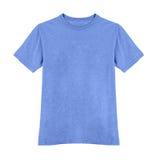 Blue tshirt isolated on white Stock Photos