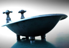Blue Tub. Miniture bathtub in blue tones Stock Images