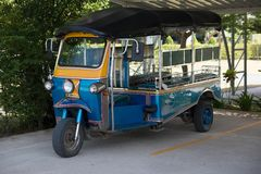 Blue Tuk Tuk, Thai traditional taxi royalty free stock photography