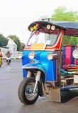 Blue Tuk-Tuk urban vehicle. F stock images