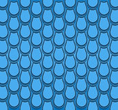 Blue tulip pattern Stock Photos