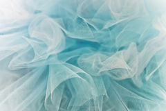 Blue Tulle. Full frame of light airy blue and white tulle Stock Photos
