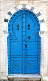 Blue tunisian doors Stock Images