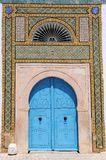 Blue tunisian doors Royalty Free Stock Image
