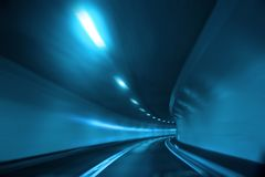 Blue tunnel Stock Images