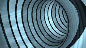 Blue Tunnel flight, loop. Blue Tunnel flight, seamless loop stock video